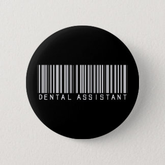 Badge Rond 5 Cm Code barres d'assistant dentaire