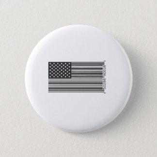 Badge Rond 5 Cm Code barres des Etats-Unis