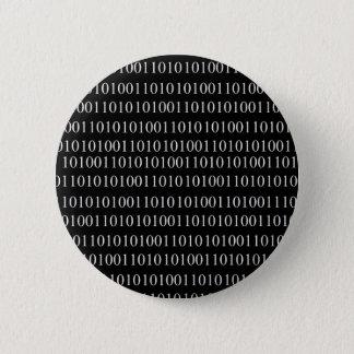 Badge Rond 5 Cm Code binaire
