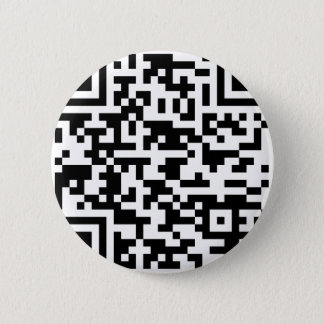 Badge Rond 5 Cm Code de Bitcoin QR d'échantillon