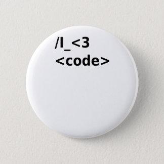 Badge Rond 5 Cm Code I <3