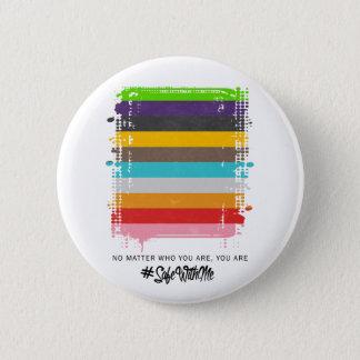 Badge Rond 5 Cm Coffre-fort avec moi bouton rond de drapeau