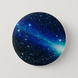 Badge Rond 5 Cm Comète bleue