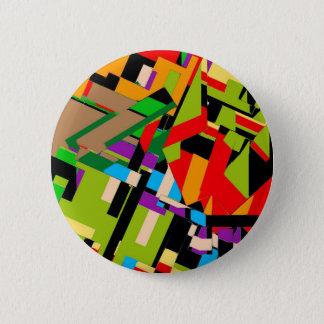 Badge Rond 5 Cm Conception abstraite brillante