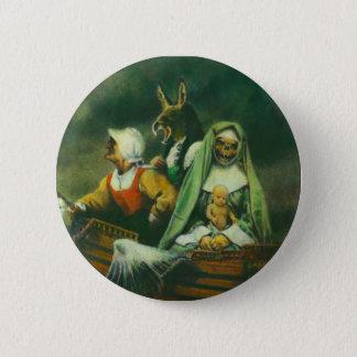 Badge Rond 5 Cm Conception de trois sorcières