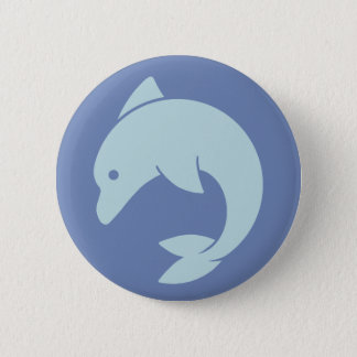 Badge Rond 5 Cm Conception simple de dauphin