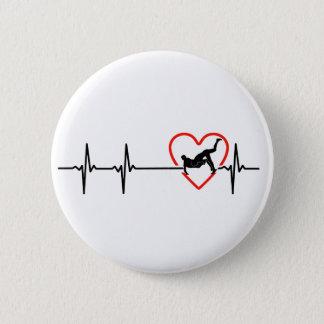 Badge Rond 5 Cm conceptions de lutte de battements de coeur