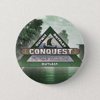 Badge Rond 5 Cm Conquête : Bouton de logo des Iles Féroé