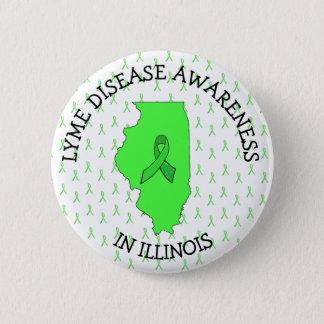 Badge Rond 5 Cm Conscience de la maladie de Lyme dans le bouton de