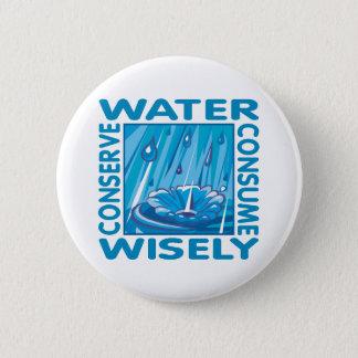 Badge Rond 5 Cm Conservation de l'eau