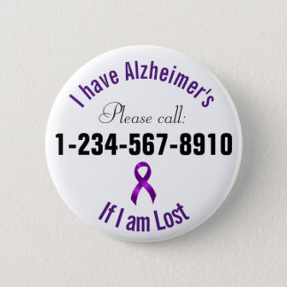 Badge Rond 5 Cm Contact de secours d'Alzheimers