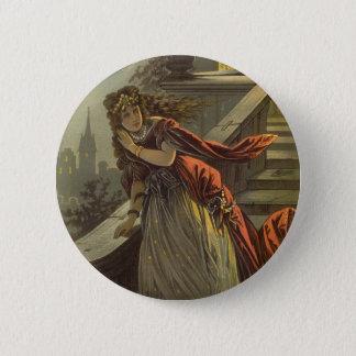Badge Rond 5 Cm Conte de fées victorien vintage, Cendrillon