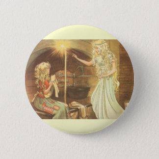 Badge Rond 5 Cm Conte de fées vintage, Cendrillon et marraine