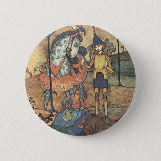 Badge Rond 5 Cm Conte de fées vintage, un chevalier courageux et