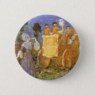 Badge Rond 5 Cm Contes de fées vintages Cendrillon et marraine