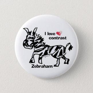 Badge Rond 5 Cm Contraste d'amour de Zebraham- I