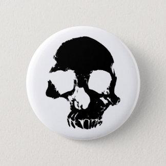 Badge Rond 5 Cm Cool effrayant de crâne de Halloween gothique