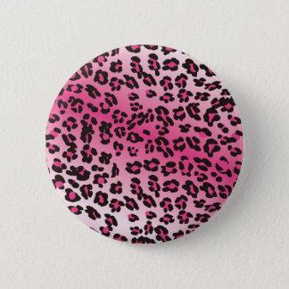 Badge Rond 5 Cm Copie rose de guépard
