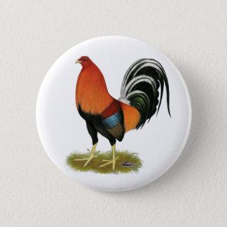 Badge Rond 5 Cm Coq blond comme les blés de coq de combat