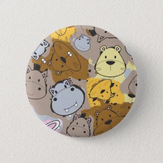 Badge Rond 5 Cm Corrections de couleur avec le motif animal de