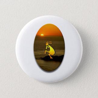Badge Rond 5 Cm Coucher du soleil #2 de Kokopelli