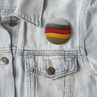 Badge Rond 5 Cm Couleur-Chrome de drapeau de l'Allemagne par