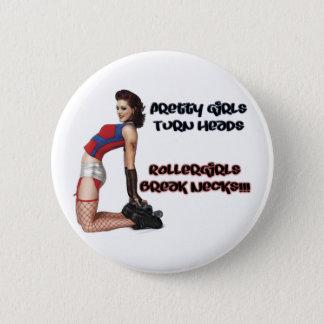 Badge Rond 5 Cm Cous de coupure de filles de rouleau