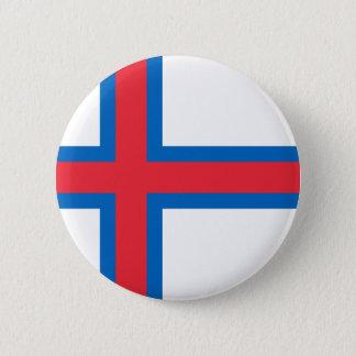 Badge Rond 5 Cm Coût bas ! Drapeau des Iles Féroé
