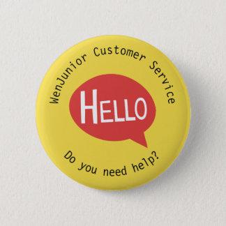 Badge Rond 5 Cm Coutume jaune d'aide de service de client