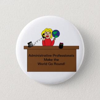 Badge Rond 5 Cm Coutume professionnelle administrative de blonde