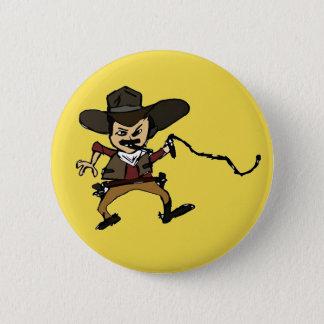 Badge Rond 5 Cm cowboy de tabagisme esquissé