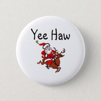 Badge Rond 5 Cm Cowboy le père noël de baie d'aubépine de Yee