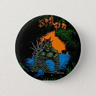 Badge Rond 5 Cm Créature de la variante noire de bouton de lagune