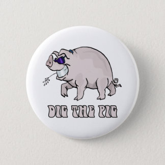 Badge Rond 5 Cm Creusez le porc