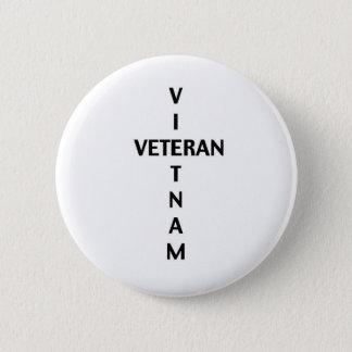 Badge Rond 5 Cm Croix de vétéran du Vietnam (bouton)