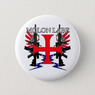 Badge Rond 5 Cm Croix d'étiquette de Molon