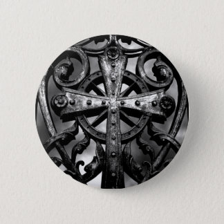 Badge Rond 5 Cm Croix gothique de cimetière