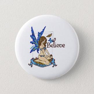 Badge Rond 5 Cm Croyez la fée
