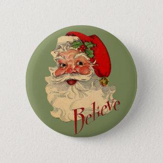 Badge Rond 5 Cm Croyez Père Noël