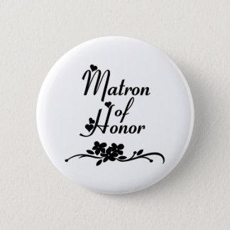 Badge Rond 5 Cm Dame de honneur classique