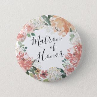 Badge Rond 5 Cm Dame de honneur florale de milieu de l'été