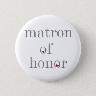 Badge Rond 5 Cm Dame de honneur grise des textes