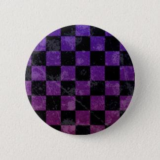 Badge Rond 5 Cm Damier de punk d'Emo