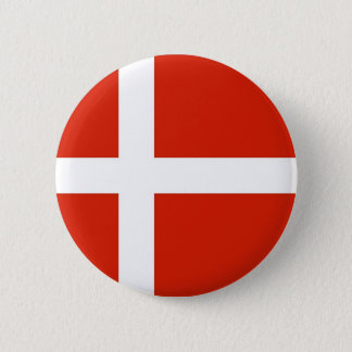 Badge Rond 5 Cm Dannebrog ; Le drapeau officiel du Danemark