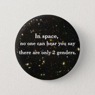 Badge Rond 5 Cm Dans l'espace, personne ne peut vous entendre