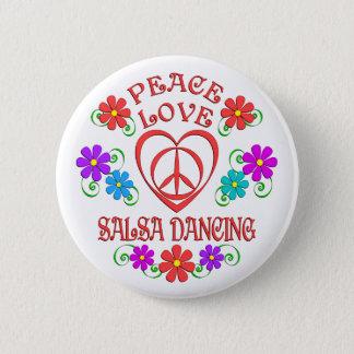 Badge Rond 5 Cm Danse de Salsa d'amour de paix
