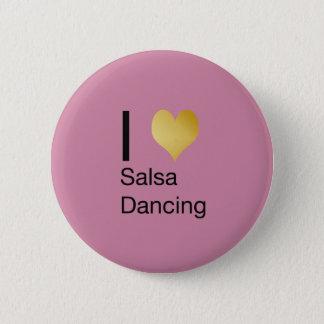 Badge Rond 5 Cm Danse par espièglerie élégante de Salsa de coeur