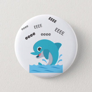 Badge Rond 5 Cm Dauphin Emoji mignon d'Eeee