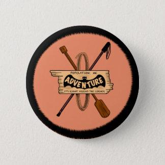 Badge Rond 5 Cm DÉFI EMBELM d'AVENTURE par Slipperywindow