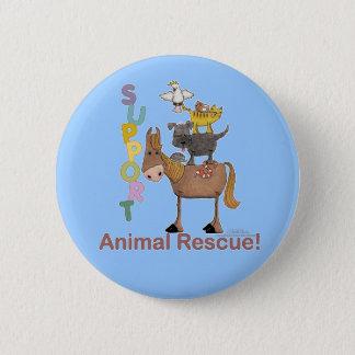 Badge Rond 5 Cm Délivrance animale de soutien